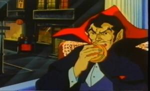 El nuevo fichaje del Burger King anunciando sus hamburguesas.