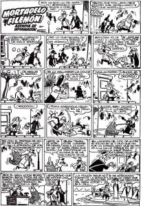 Una de las primeras historietas de Mortadelo y Filemón