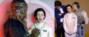 Luke y Chewie propasándose con Leia. ¡Han, levanta la cabeza y di algo, copón!